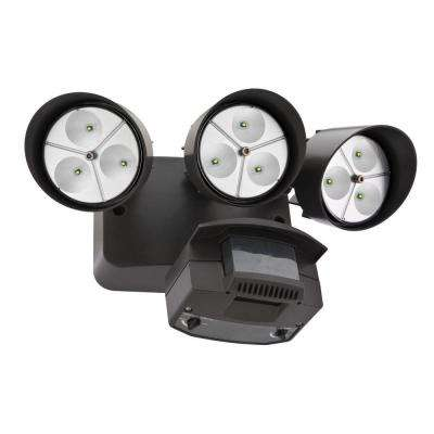Wall-Mount Bronze Motion Sensor Outdoor LED Flood Light