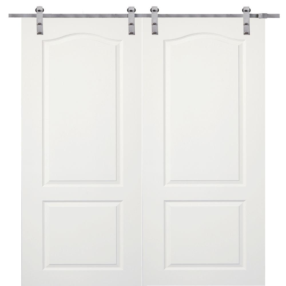 This Review Is From:72 In. X 80 In. Primed Princeton Smooth Surface Solid  Core Double Door With Barn Door Hardware Kit