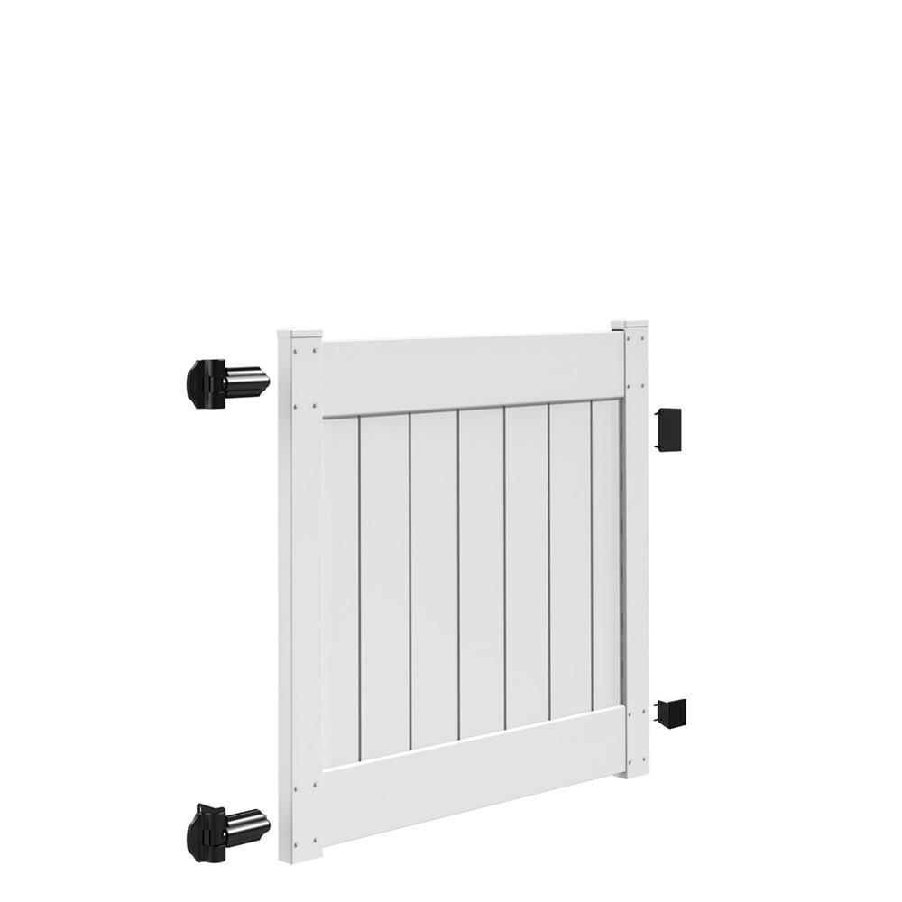 Linden 4 ft. W x 4 ft. H White Vinyl Un-Assembled Fence Gate