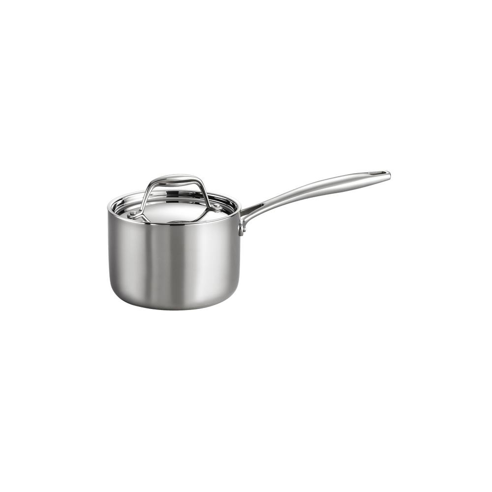 Gourmet 1.5 Qt. Tri-Ply Clad Saucepan with Lid