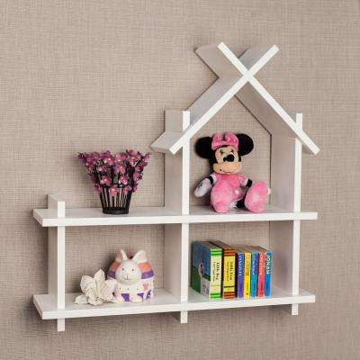 24 in. x 24 in. White House Design Floating Wall Shelf