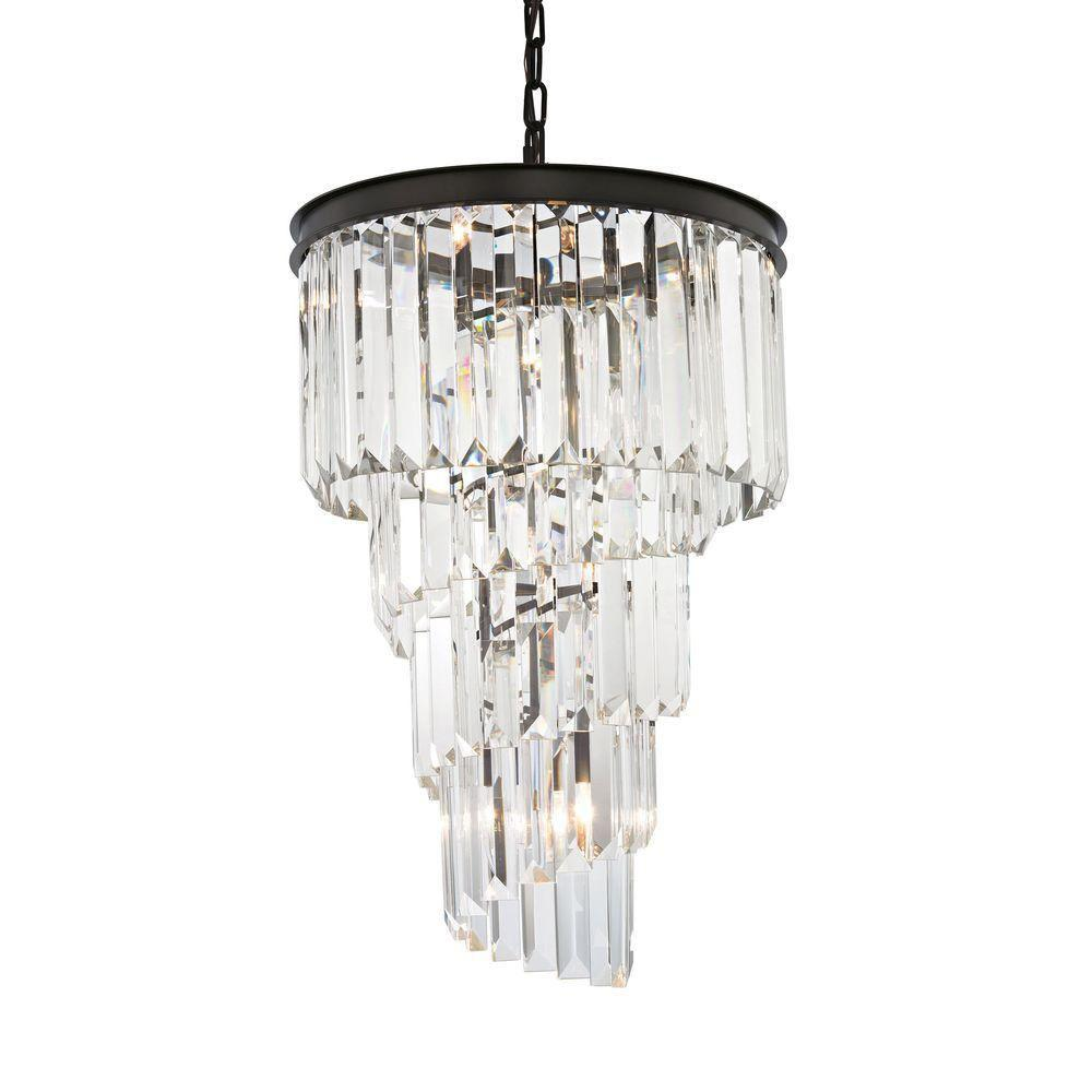 An Lighting Palacial 6 Light Oil Rubbed Bronze Led Chandelier