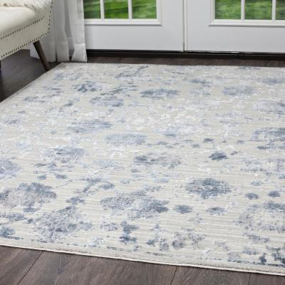 Kenmare Gray/Blue 8 ft. x 10 ft. Indoor Area Rug