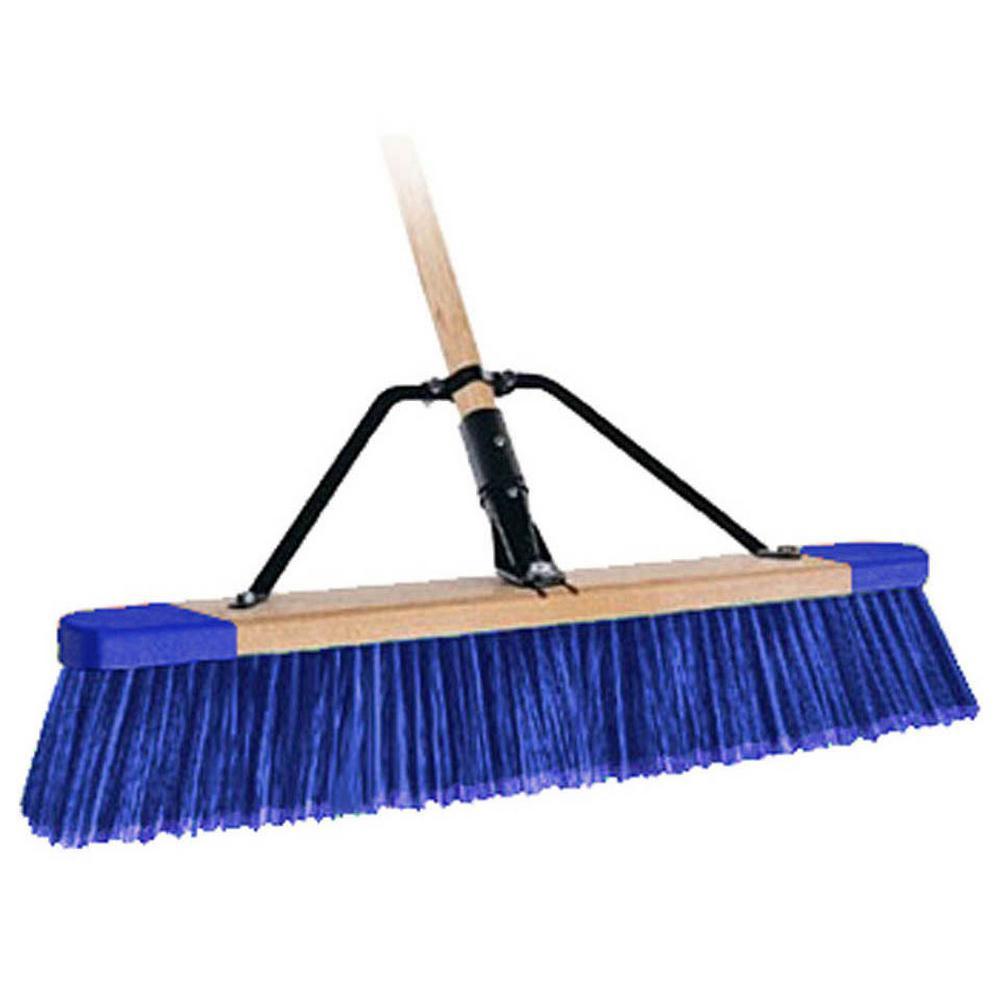 Bon 24 inch Stiff Bristle Paver Push Broom with 5 ft. Handle by Bon