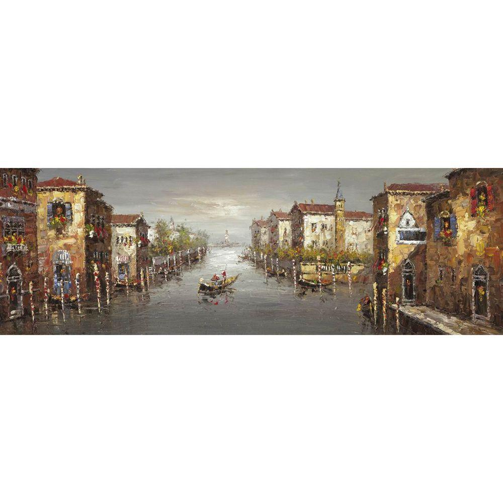 Yosemite Home Decor 23.5 in. x 71 in. A Canal in Venice I Hand Painted Contemporary Artwork-DISCONTINUED