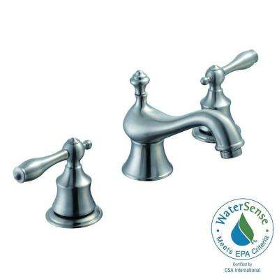 Estates 8 in. Widespread 2-Handle High-Arc Bathroom Faucet in Brushed Nickel