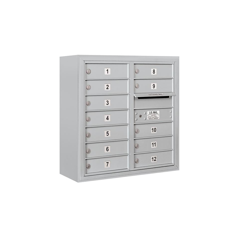3800 Horizontal Series 12-Compartment Surface Mount Mailbox