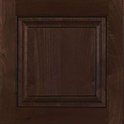 12.75x12.75x.75 in. Ancona Ready to Assemble Cabinet Door Sample in Mocha
