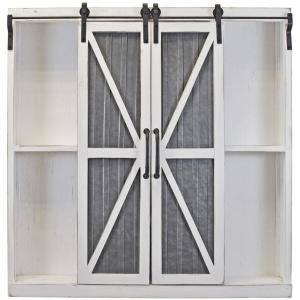 Firstime Co 34 In Wynne Distressed White Barn Door