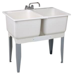 MUSTEE 36 inch x 34 inch Plastic Laundry Tub by MUSTEE