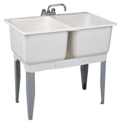 36 in. x 34 in. Plastic Laundry Tub