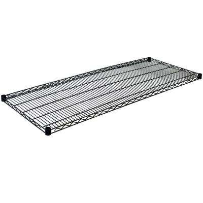 1.5 in. H x 60 in. W x 18 in. D Steel Wire Shelf in Black