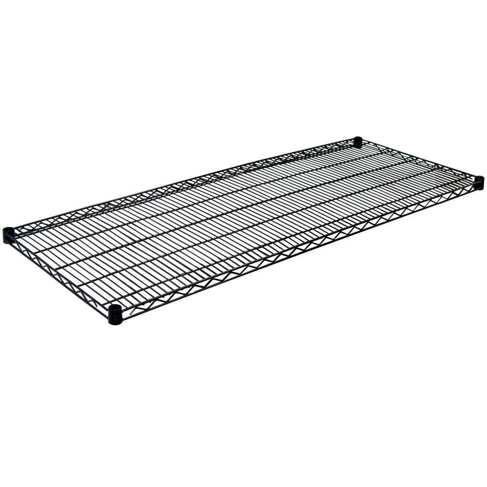 1.5 in. H x 60 in. W x 18 in. D Steel Wire Shelf in Black