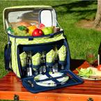 Deluxe Picnic Cooler for 4 in Trellis Green