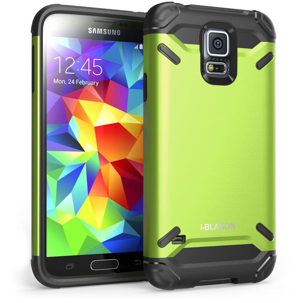i blason armadillo series hybrid case for galaxy s5 green galaxys5