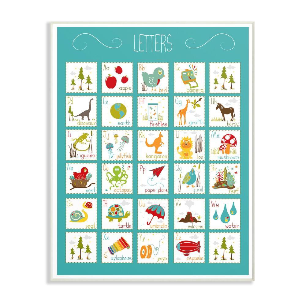 letters alphabet vertical canvas art wall art the home depot