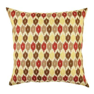 Red and Tan Ogee Designer Throw Pillow