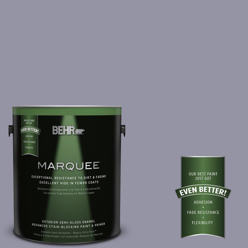 BEHR MARQUEE 1-gal. #640F-5 Ash Violet Semi-Gloss Enamel Exterior Paint
