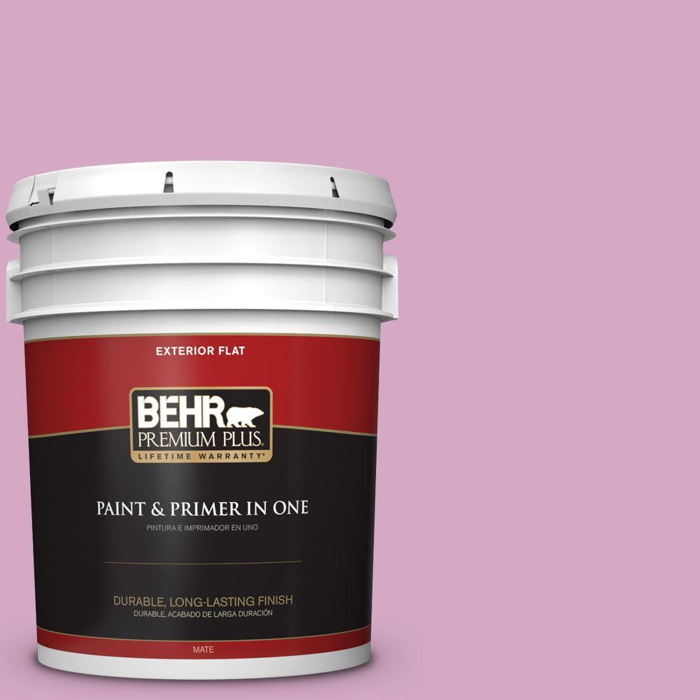 BEHR Premium Plus 5-gal. #M120-4 Heart to Heart Flat Exterior Paint