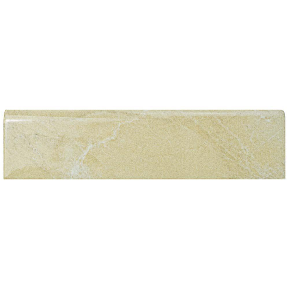 Aroas Bullnose Arena 2 in. x 8 in. Ceramic Wall Trim