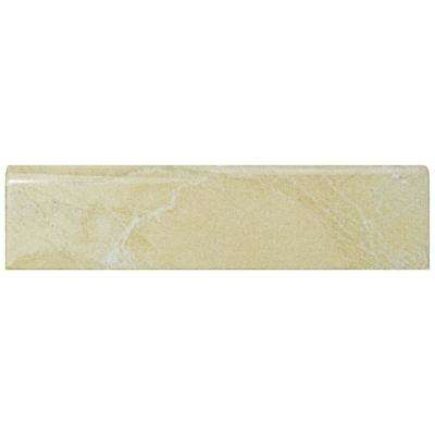 Aroas Bullnose Arena 2 in. x 8 in. Ceramic Wall Trim Tile