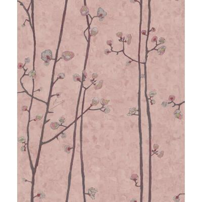 Blush Pink Plum Branches Wallpaper