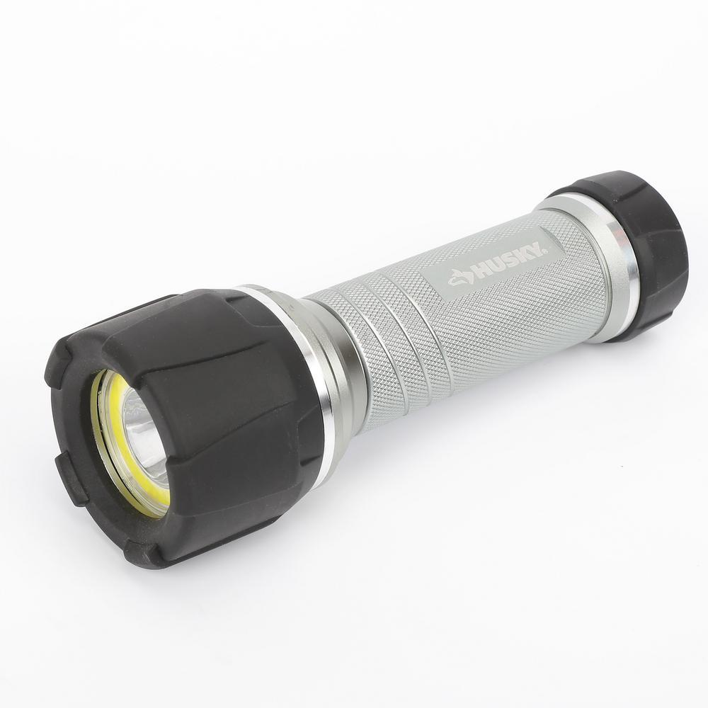 4AAA 350-Lumen LED Dual Beam Unbreakable Aluminum Flashlight