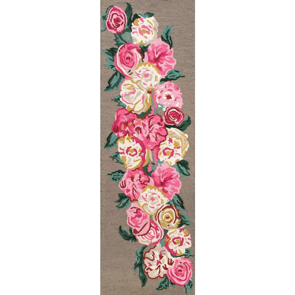 Rose Bouquet Light Brown 2 ft. 6 in. x 8 ft. Runner Rug