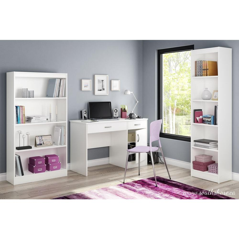 Axess Pure White Workstations with Storage