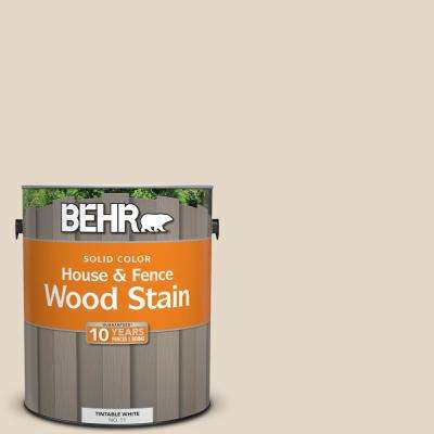 1 gal. #ECC-51-2 Sand Castle Solid Color House and Fence Exterior Wood Stain