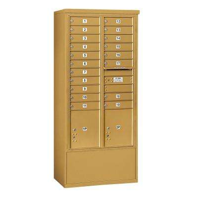 3900 Horizontal Series 19-Compartment 2-Parcel Locker Free Standing Mailbox