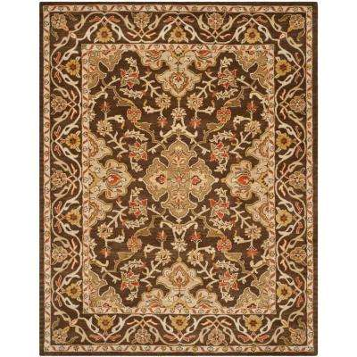 Classic Brown/Brown 8 ft. x 10 ft. Area Rug