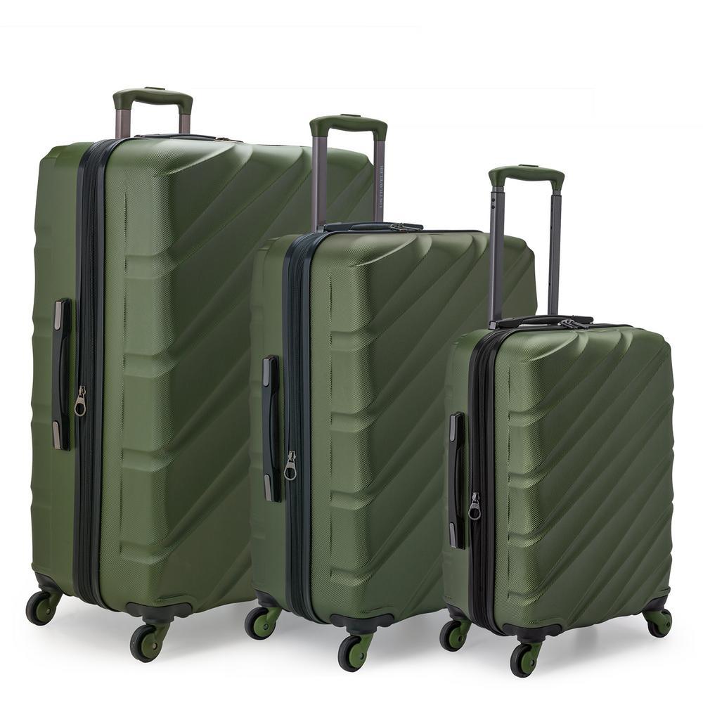 4fad26a61497 U.S. Traveler Gilmore 3-Piece Olive Green Expandable Hardside 4 ...