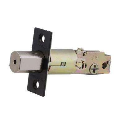 Pro Square Replacement Single/Double Deadbolt Compatible Latch in Oil Rubbed Bronze
