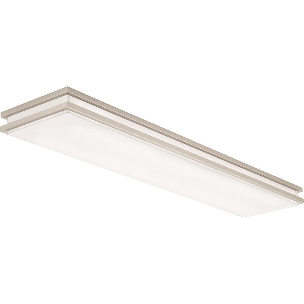 Lithonia Lighting 4 Ft 40 Watt White Integrated Led: Lithonia Lighting FMLWL 48 840 4 Ft. White LED Flushmount