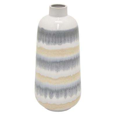 12.5 in. Multi-Colored Ceramic Vase