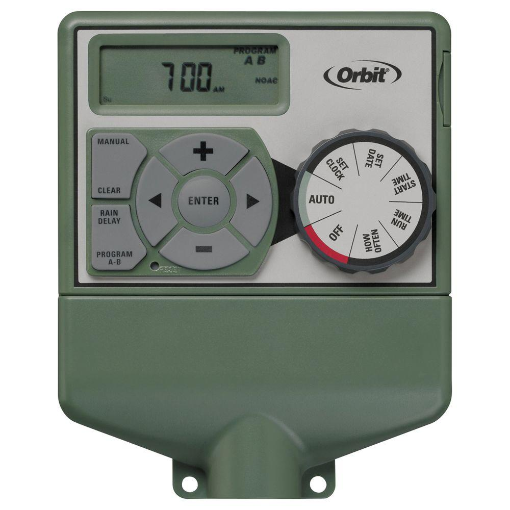 orbit 6 station easy dial sprinkler timer 57876 the home depot rh homedepot com orbit sprinkler timer manual 6 station toro sprinkler timers manual