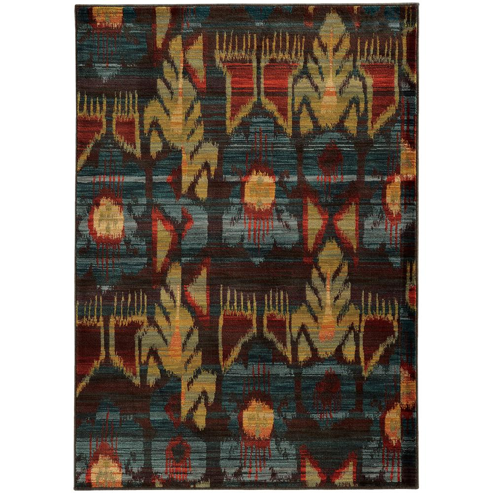 Cordoba Blue and Multi 6 ft. 7 in. x 9 ft.