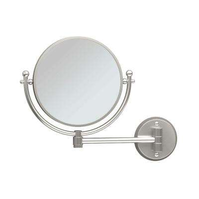 Cosmetic 14 in. x 11 in. Framed Wall Mirror in Satin Nickel