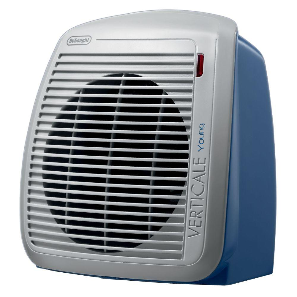 delonghi fan heater blue hvy1030bl the home depot. Black Bedroom Furniture Sets. Home Design Ideas
