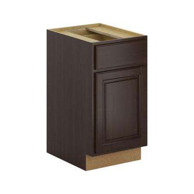 Madison Assembled 18x34.5x24 in. Base Cabinet with Soft Close Drawer in Espresso