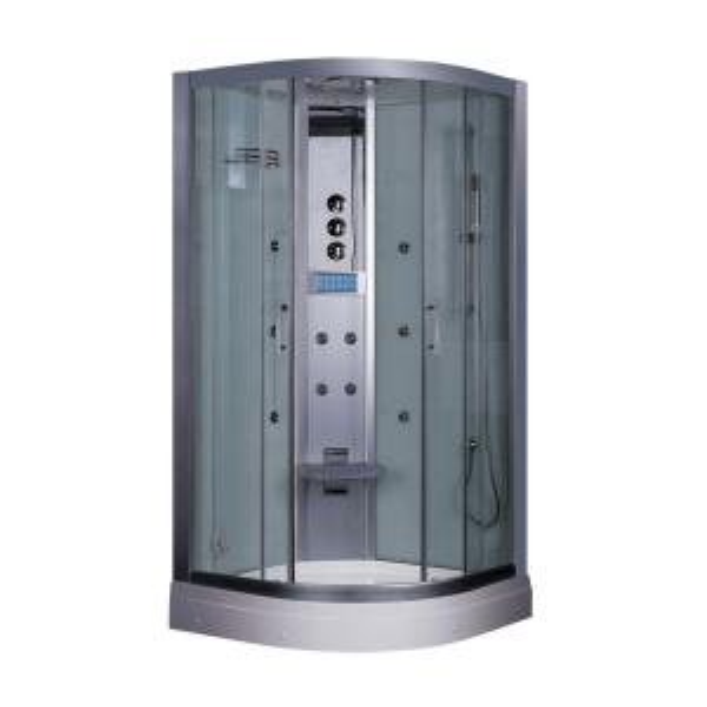 Ariel 35.5 inch x 87.5 inch x 35.5 inch Steam Shower Enclosure Kit in White by Ariel