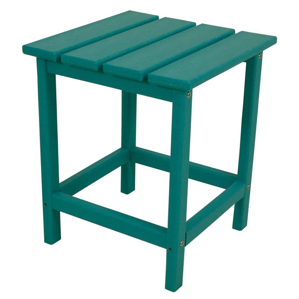 POLYWOOD Long Island 18 In. Aruba Patio Side Table
