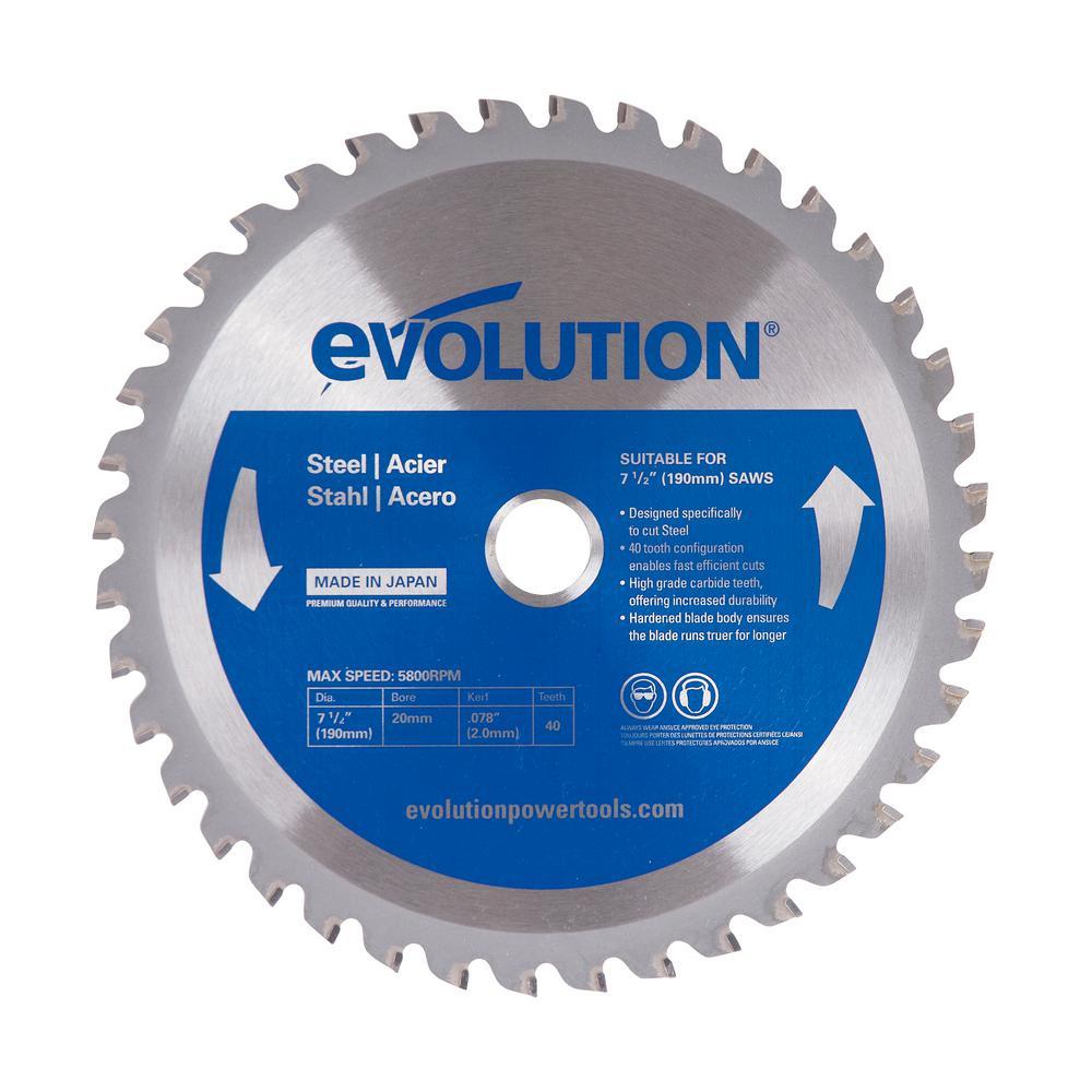 7-1/2 in. 40-Teeth Mild Steel Cutting Saw Blade