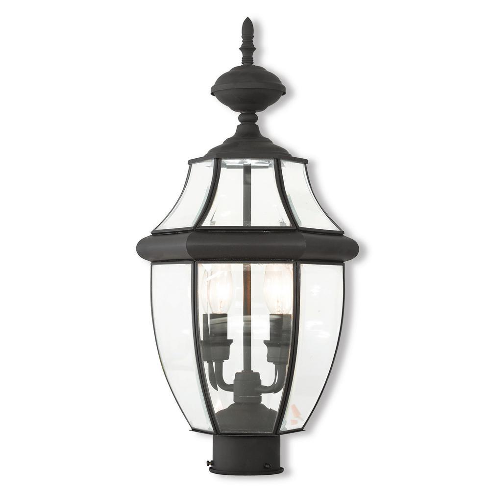 Monterey 2-Light Outdoor Black Post Light