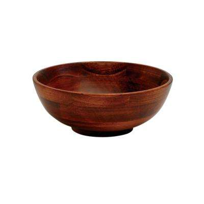 Cherry Finish Wood 7 in. Footed Bowls (Set of 4)