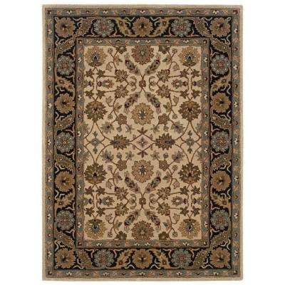 Trio Ivory and Black 5 ft. x 7 ft. Area Rug