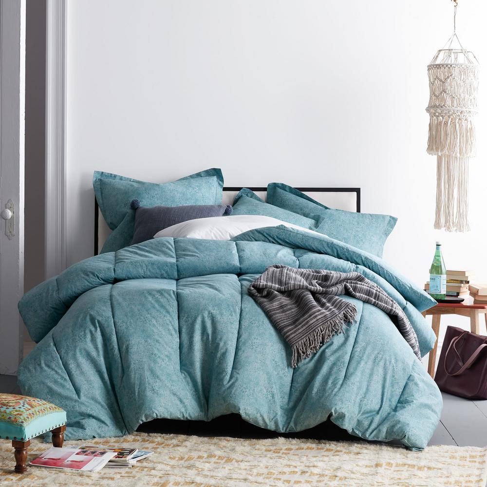 Vintage Wash Cotton Percale Comforter Set