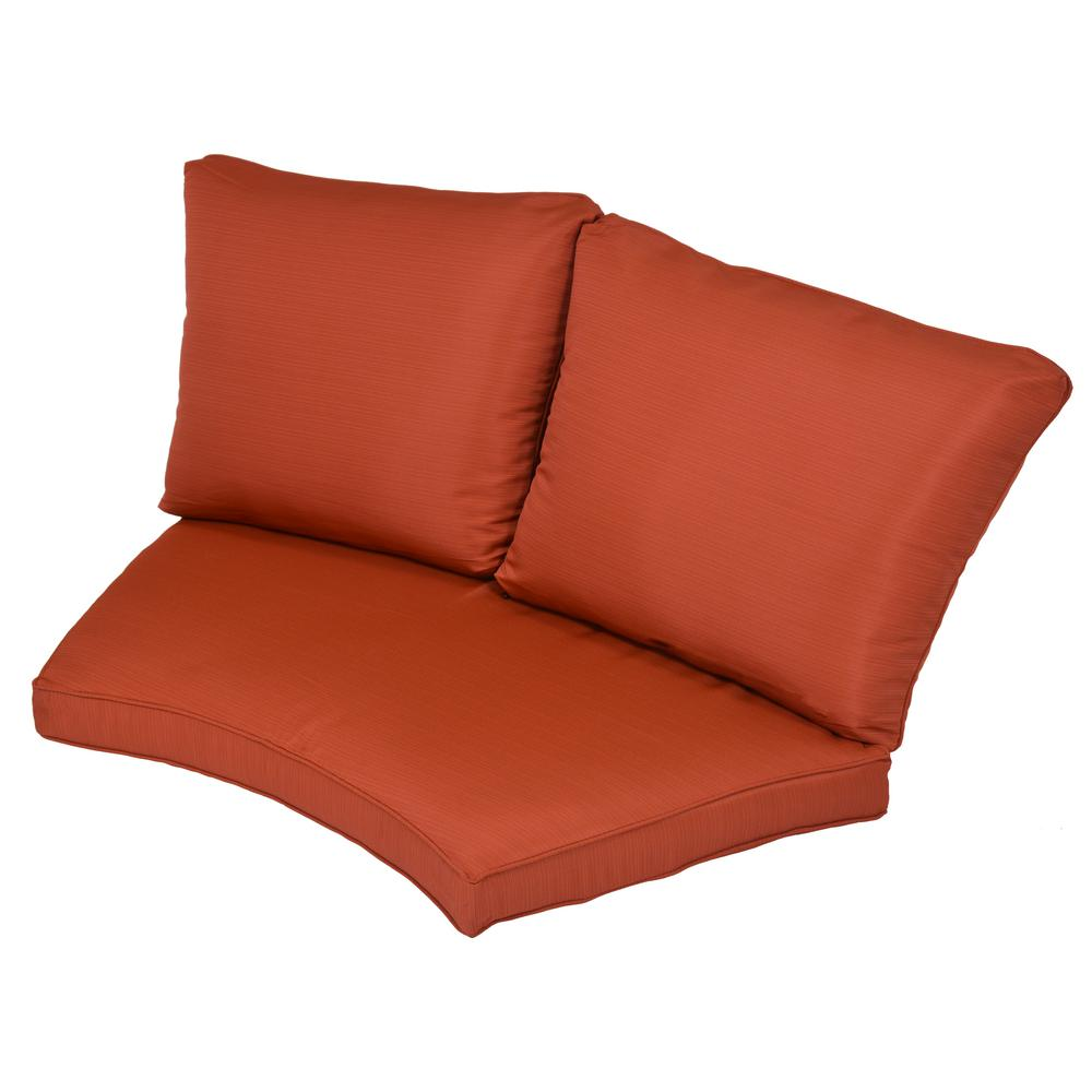 Torquay Quarry Red Replacement 2-Piece Outdoor Sectional Cushion