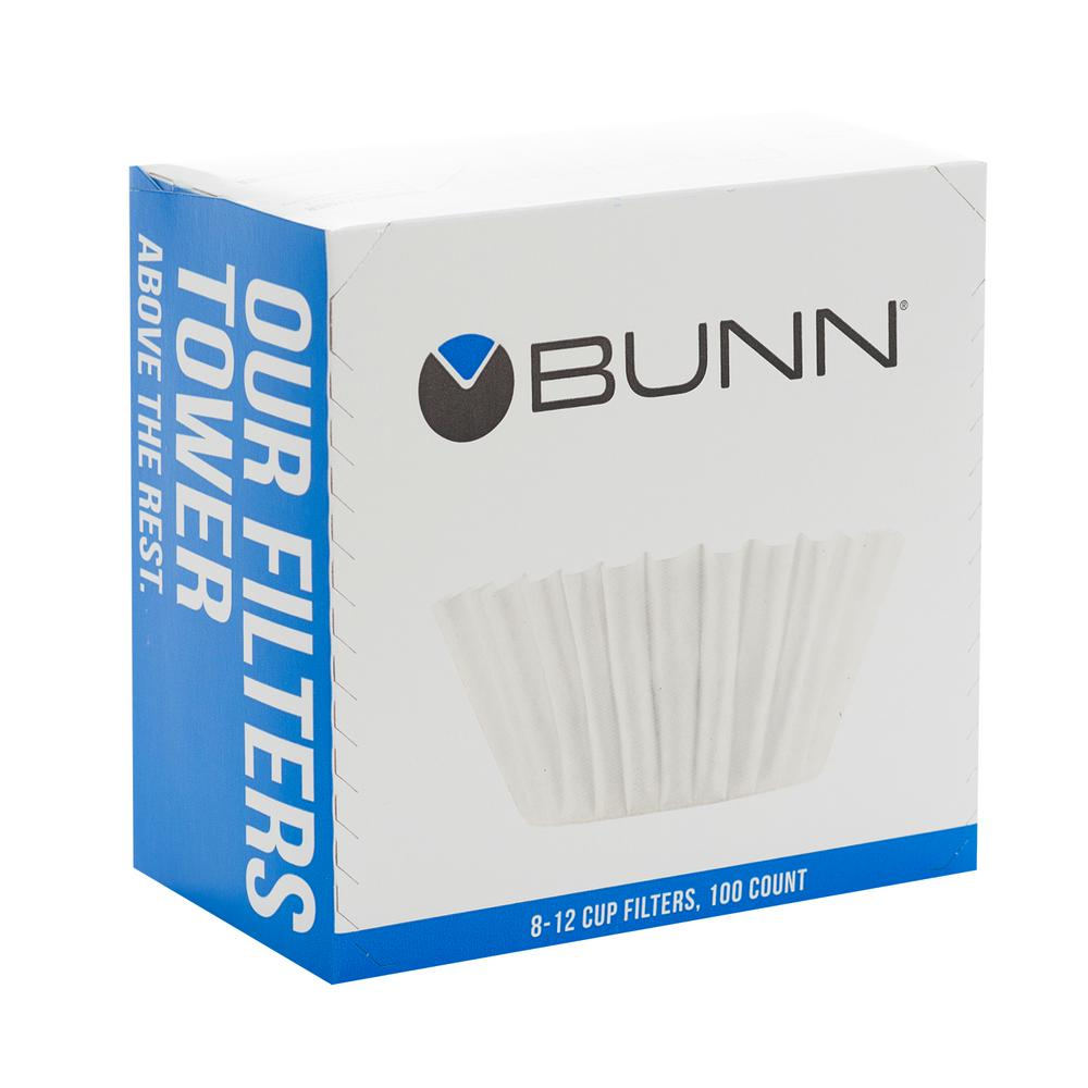 Bunn 8 12 Cup Coffee Filters And 100 Pack Case Of 6 20104 0006 The Home Depot